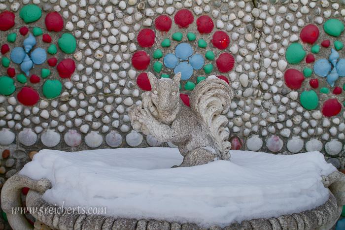 Ein Detail im Schnee