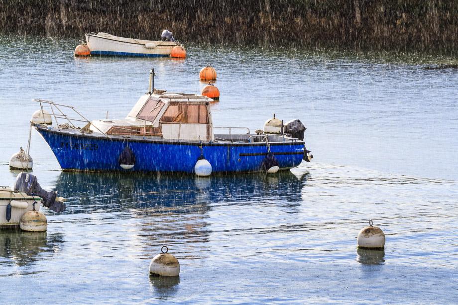 Fischerboot im Regen, Belle Ile