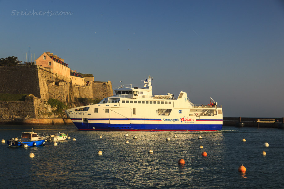 Die Fähre im Hafen von Le Palais, Belle Ile