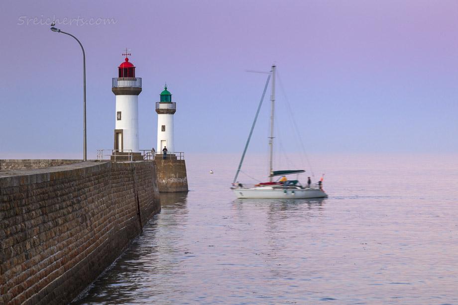 Segelboot in Le Plalais, Belle Ile, Bretagne, Frankreich