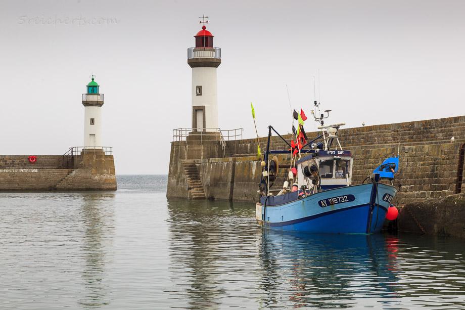 Fischerboot, Le Plalais, Belle Ile, Bretagne, Frankreich