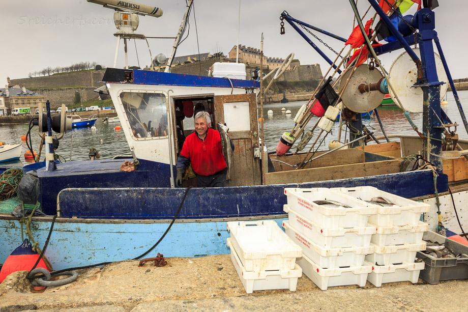 Frischer Fisch, Le Plalais, Belle Ile, Bretagne, Frankreich