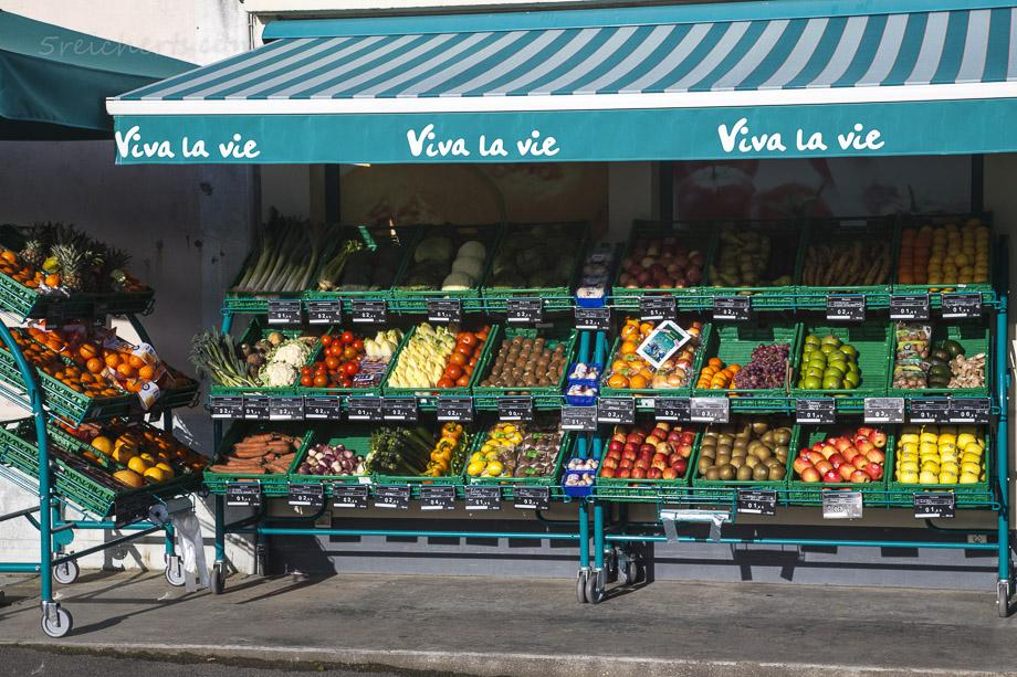 Farbenfrohes Gemüse, Sauzon, Belle Ile