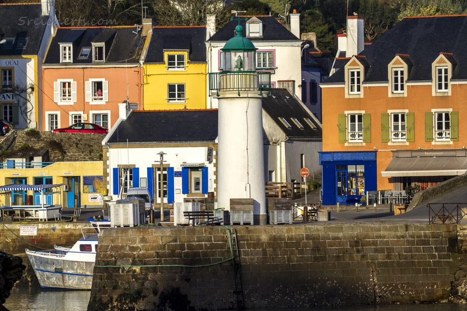 Der Hafenleuchtturm von Sauzon, Belle Ile