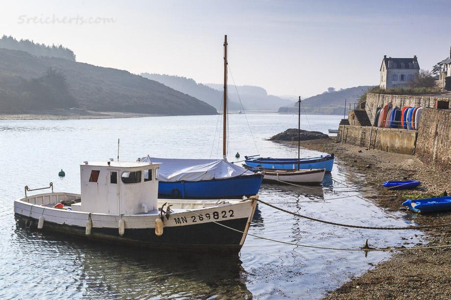 Boote im Hafen von Sauzon