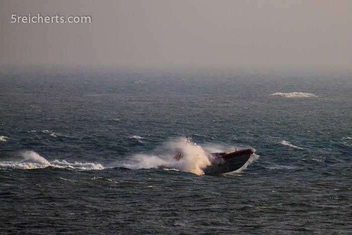 Boot im Sturm