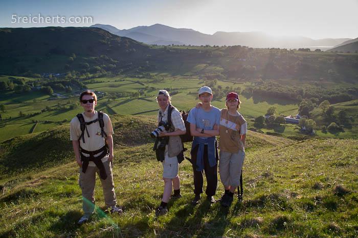 Wir auf der Höhe des Hügels