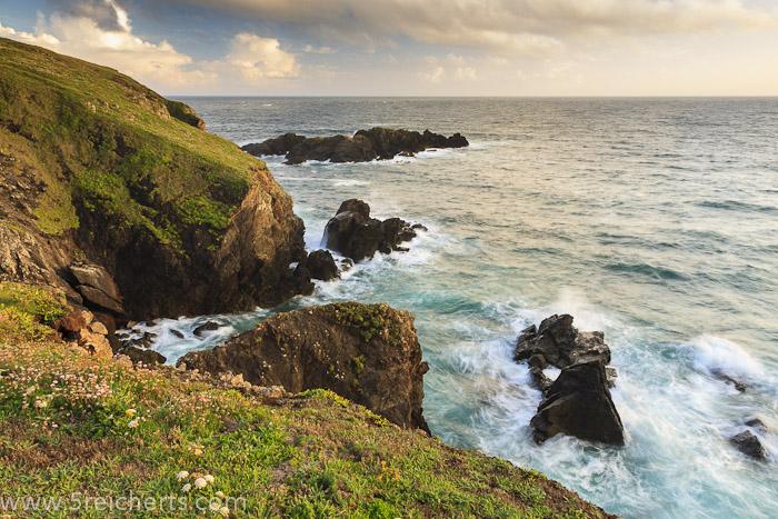 Küste in Cornwall, Großbritannien