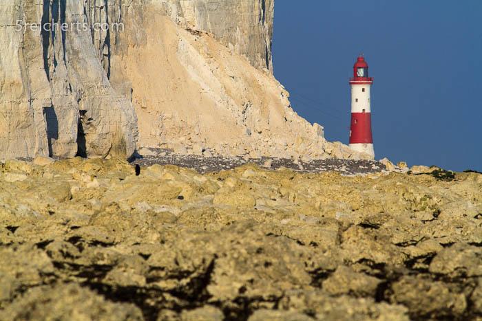 Leuchtturm in der Ferne, Beachy Head, England