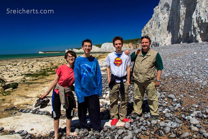 vier der fünf reicherts, Beachy Head, England