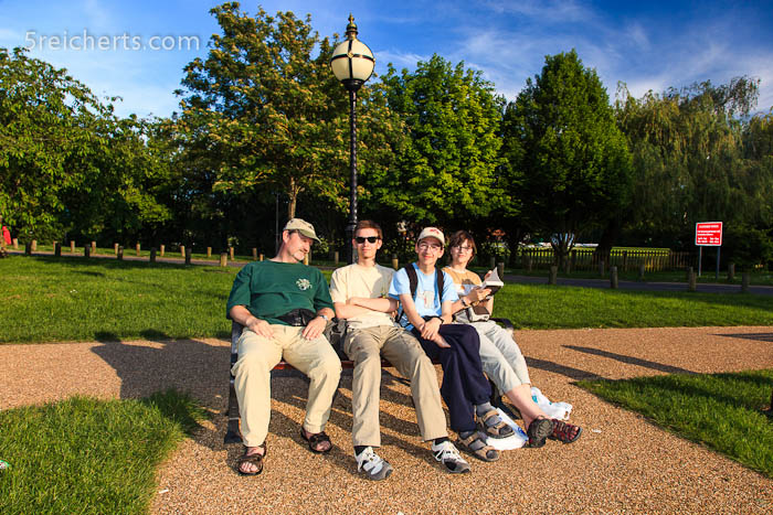 vier müde Reicherts, Stratford, England