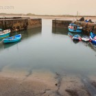 Hafen bei Beadnell im Regen