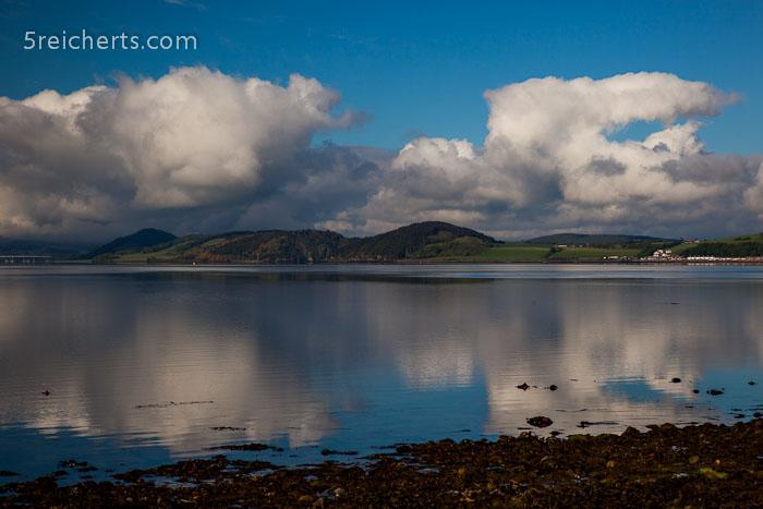 windstiller Morgen, Channonry Point, Schottland