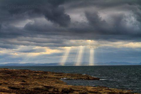 Tarbat bei Regenwetter, Schottland