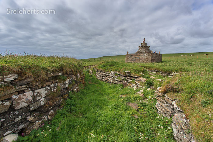 Broch, Bruchsteinmauern aus der Eisenzeit