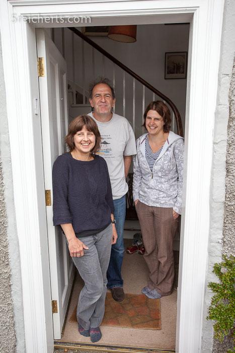 Jenny, Gerry und Karen nach dem gemeinsamen Frühstück