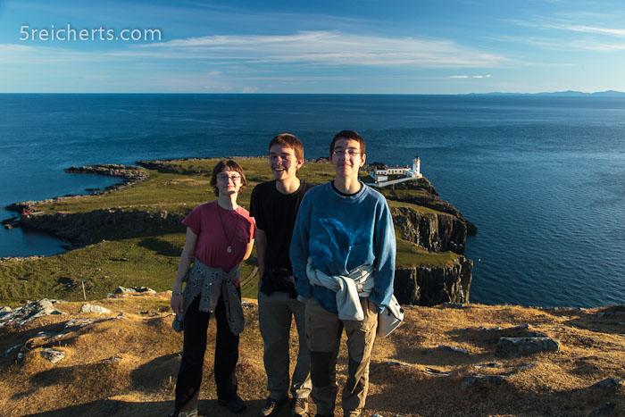 die Kids oben auf dem Hügel auf der Leuchtturmhalbinsel