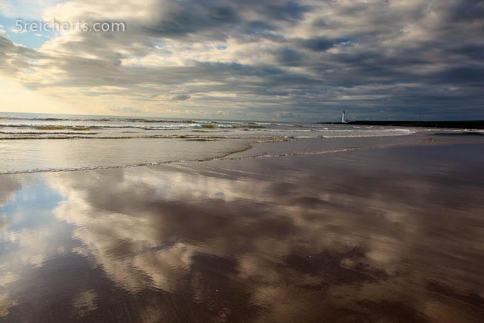 nasser Sand am frühen Morgen