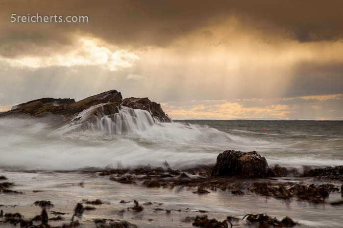 Regen und Wellen