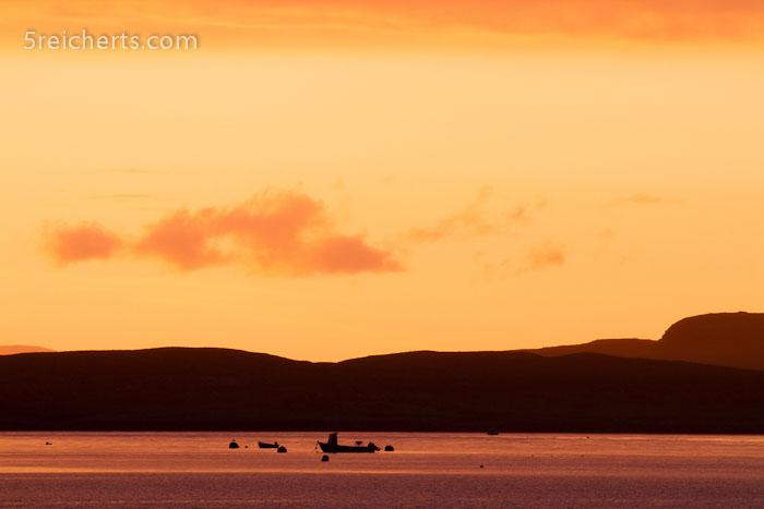 ein Sonnenuntergang im Regen auf der Isle of Skye