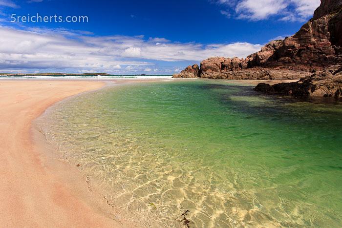 am Strand, in der Nähe von Durness, Schottland
