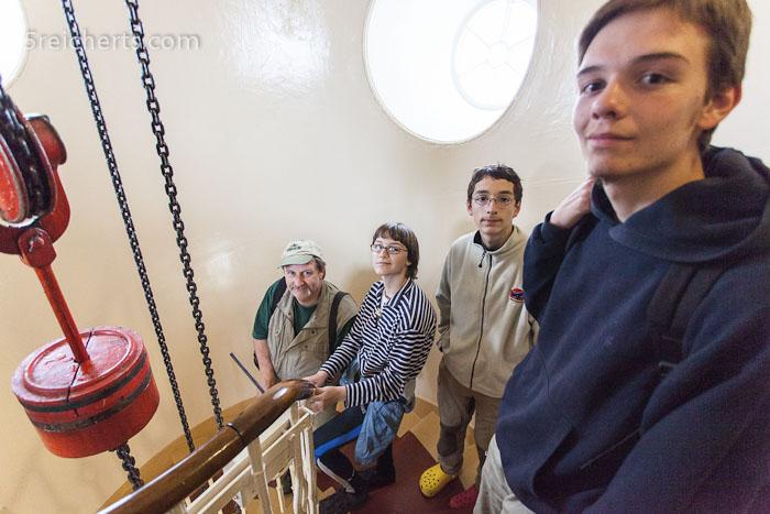 vier Reicherts im Treppenhaus