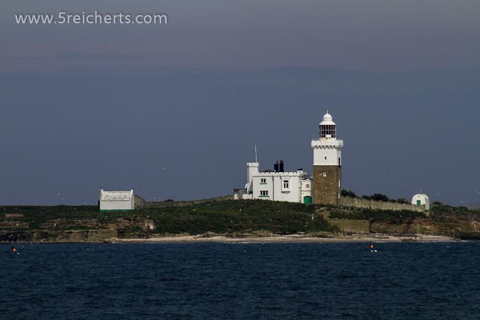 Leuchtturm auf einer Insel vor Amble