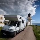 unser Womo mit dem Tod Lighthouse