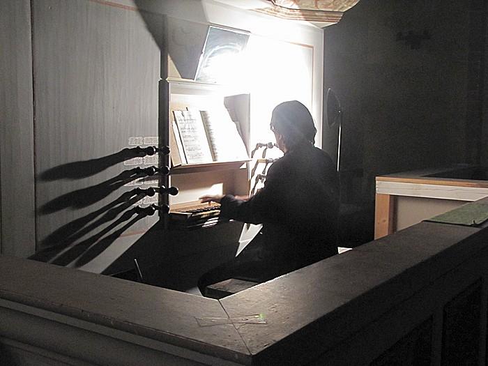 abends beim Orgelkonzert