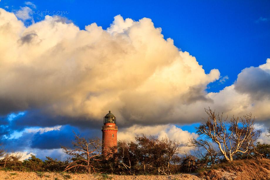Darsser Ort, Leuchtturm am Weststrand