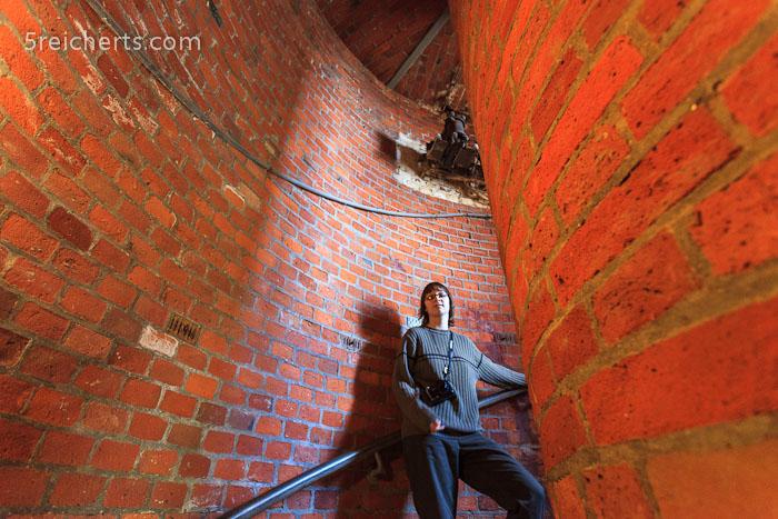 Amy im neuen Turm am Kap Arkona