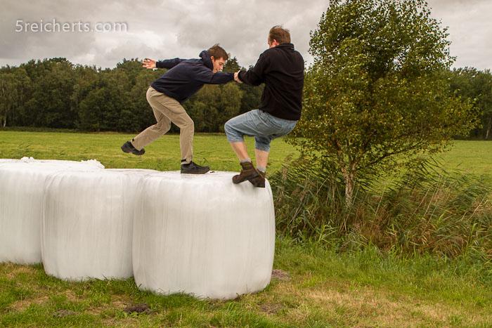 Sven spring flott auf den Ballen
