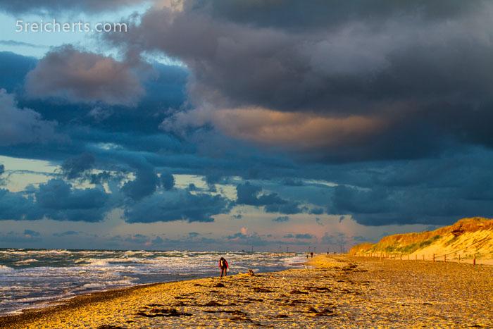 Wolken und Strand, Prerow