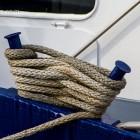 Detail am Boot, im Hafen von Sassnitz, Insel Rügen