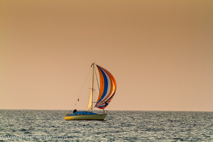 Segelboot in Warnemünde, Ostsee