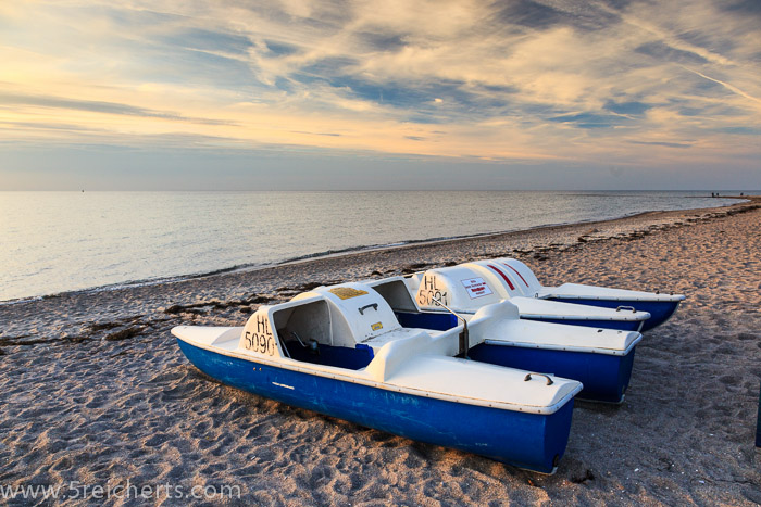 Boote am Badestrand, Insel Poel, Ostsee