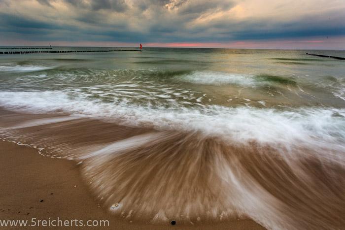 Wellen und Wolken, Wustrow, Ostseeküste