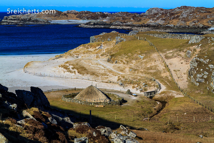 Iron Age House an Bosta Beach, Isle of Lewis