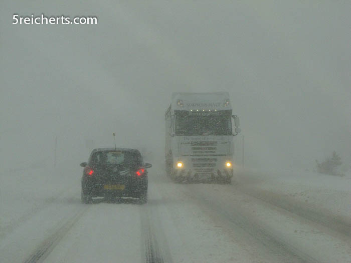Schneegestöber auf dem Pass
