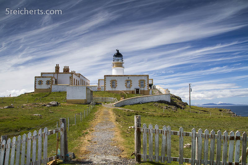 Eingang zum Neist Point Lighthouse, Isle of Skye, Schottland