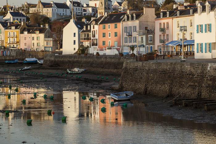 Früh morgens im Hafen von Sauzon, Belle Ile, Bretagne