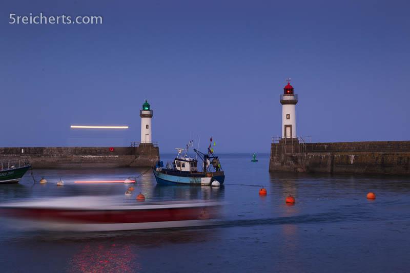 Es wird Nacht, Hafen von Le Palais, Belle Ile, Bretagne