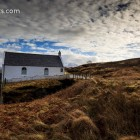 Die Kirche auf der Höhe vor Carbost, Isle of Skye