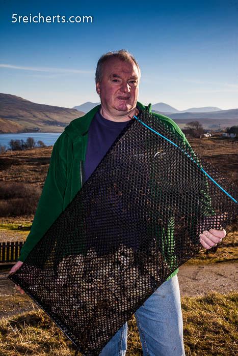 Kenny, der die Austernfarm vor fast 30 Jahren gründete
