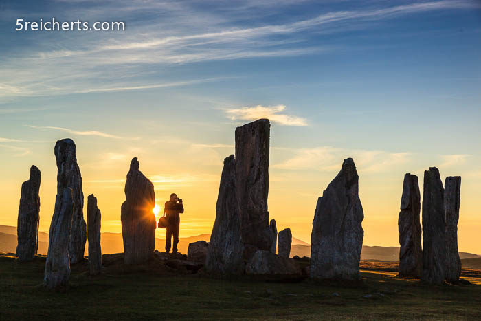 Gunter und die Standing Stones of Calanish