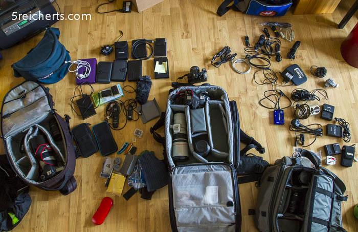 ein Teil der Kamera Ausrüstung