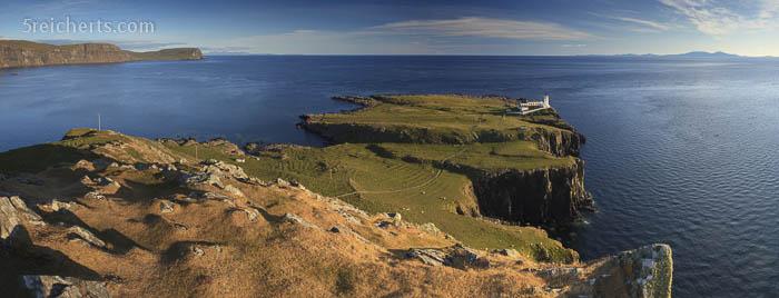 Aussicht auf den Leuchtturm und die Halbinsel