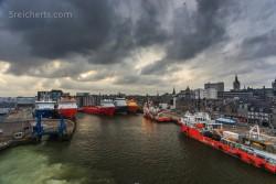 im Hafen von Aberdeen