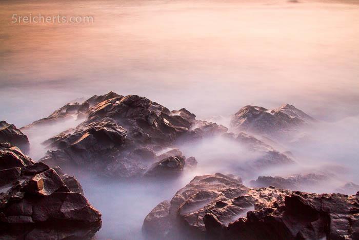 das wilde Meer, nach Sonnenuntergang