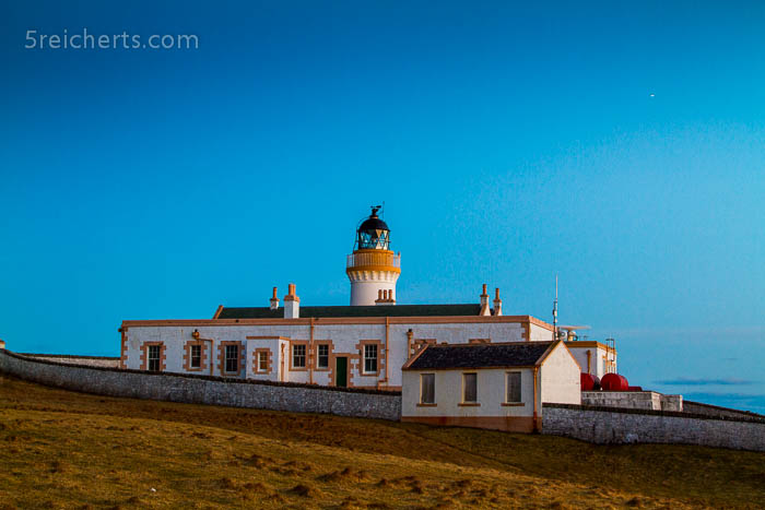 Bressay Lighthouse in der Nacht, Shetland